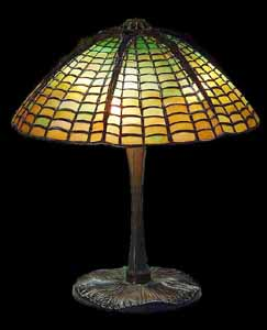 Tiffany table lamps: geometric designs